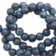 6 mm Naturstein Perlen Blue antracite