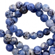 8 mm Naturstein Perlen Dark blue