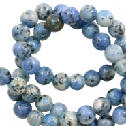 6 mm Naturstein Perlen Blue