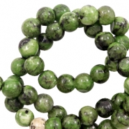 8 mm Naturstein Perlen Forest green