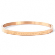 "Armbänder aus Stainless Steel - Rostfreiem Stahl ""LOVE LIFE AND ENJOY EVERY MOMENT"" Rosegold"