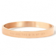 "Armbänder aus Stainless Steel - Rostfreiem Stahl ""YOU ARE MY STAR IN THE SKY"" Rosegold"