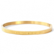 "Armbänder aus Stainless Steel - Rostfreiem Stahl ""YOU ARE MY STAR IN THE SKY"" Gold"