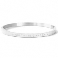 "Armbänder aus Stainless Steel - Rostfreiem Stahl ""I LOVE YOU TO THE MOON AND BACK"" Silver"
