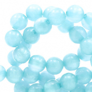 Polaris Perlen 6 mm rund pearl shine Sky blue