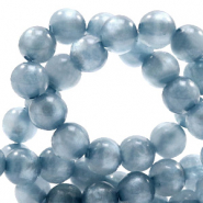 Polaris Perlen 8 mm rund pearl shine Powder blue