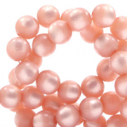 Super Polaris Perlen 8 mm rund Cloud coral pink