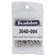 Beadalon Spring Cord End 2.2mm Silber