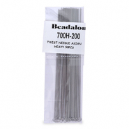 Beadalon Twisted Needle Asian Heavy 50pcs Silber