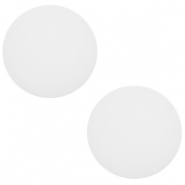 12 mm classic Cabochon Polaris Elements matt Daisy white