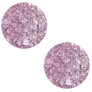 20 mm flach Cabochon Polaris Elements Goldstein Iris orchid purple