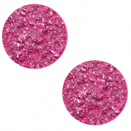 12 mm flach Cabochon Polaris Elements Goldstein Magenta purple