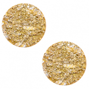 12 mm flach Cabochon Polaris Elements Goldstein Mineral yellow