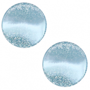 12 mm flach Cabochon Polaris Elements Stardust Sky blue