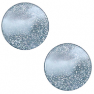 12 mm flach Cabochon Polaris Elements Stardust Powder blue