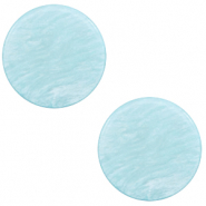 12 mm flach Cabochon Polaris Elements Lively Sky blue