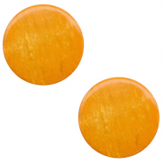 12 mm flach Cabochon Polaris Elements Lively Caramel yellow