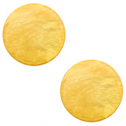 12 mm flach Cabochon Polaris Elements Lively Mineral yellow