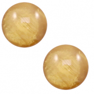 12 mm classic Cabochon Polaris Elements Mosso shiny Cedar brown