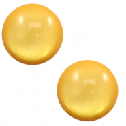 7 mm classic Cabochon Polaris Elements soft tone shiny Mineral yellow