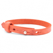 Cuoio Armbänder kids 8mm für 12mm Cabochon Living coral red