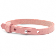 Cuoio Armbänder kids 8mm für 12mm Cabochon Pressed rose red