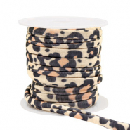 Gestepptes Elastisches Band Leopard Beige-brown