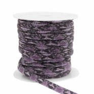Gestepptes Elastisches Band Snake Dark purple