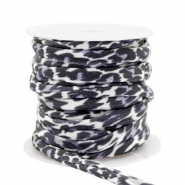 Gestepptes Elastisches Band Leopard Grey-black
