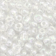 Glasperlen Rocailles 6/0 (4mm) Crystal pearl