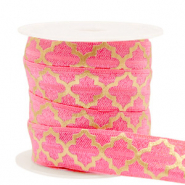 Elastisches Band Moroccan pattern Rouge pink-gold