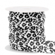 Elastisches Band Leopard White-black