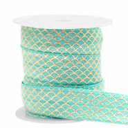 Elastisches Band Mermaid Turquoise-gold