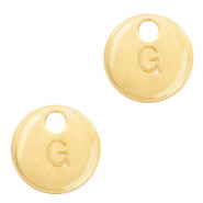 Basic quality Metall Anhänger Initiale G Gold (Nickelfrei)