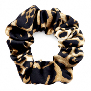 Haargummi Leopard Print Black-brown