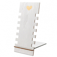 "Schmuckdisplay Holz ""Heart"" Metallic Silver"