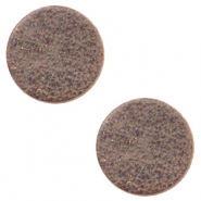 DQ Leder Cabochons 12mm Toffee brown
