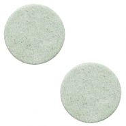 DQ Leder Cabochons 12mm Meadow green