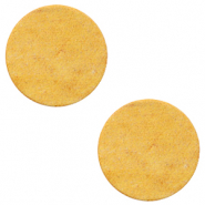 DQ Leder Cabochons 12mm Mineral yellow