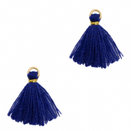 Perlen Quaste 1.5cm Gold-dark blue