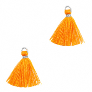 Perlen Quaste 1.5cm Silver-persimmon orange