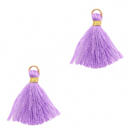 Perlen Quaste 1.5cm Gold-purple