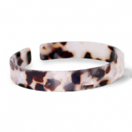 Armbänder Resin loose fit Off white-brown