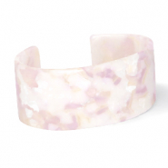 Armbänder Resin White-pink