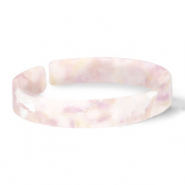 Armbänder Resin loose fit White-pink