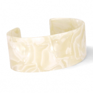 Armbänder Resin Cream beige