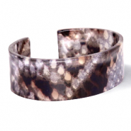 Armbänder Resin Snake shiny Brown-grey