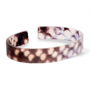 Armbänder Resin loose fit Snake matt Brown-grey