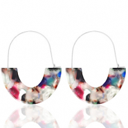 Trendy Ohrringe Resin Multicolour-silver