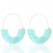 Trendy Ohrringe Resin Turquoise-silver